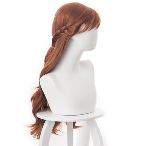 Rulercosplay Long Curly Brown Cosplay Wigs for Frozen 2 Anna, 25.56''