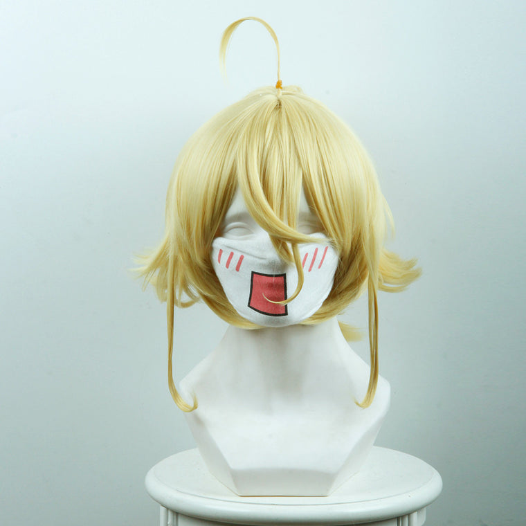 Tan Ya Senki / Girl Wars Tanya Von Degurechaff Short Yellow Anime Cosplay Wigs 436A