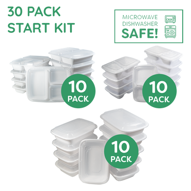 The Ultimate Meal Prep Food Storage Starter Kit WHITE - Jugglebox