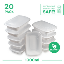 20x Single Compartment Meal Prep Food Storage Containers - Jugglebox