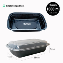 Dimension of Single Compartment Meal Prep Food Storage Containers - Jugglebox