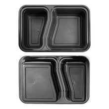 10x Two Compartment Meal Prep Food Storage Containers NEW VERSION - Jugglebox