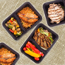 2 Compartment Meal Prep Containers - 7 Day Pack + 3 Free