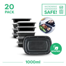 20 x Single Compartment Meal Prep Food Storage Containers - Jugglebox