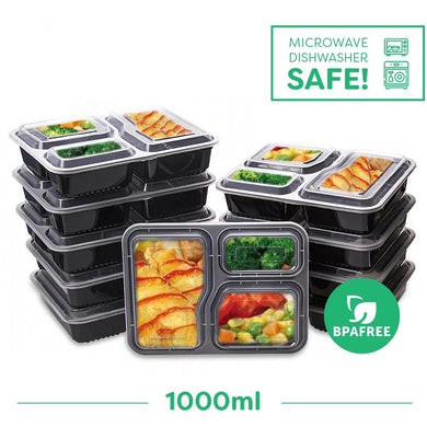 SUBSRIPTION - 12 Months of 3 Compartment meal Containers (Save 20% & Free Shipping)