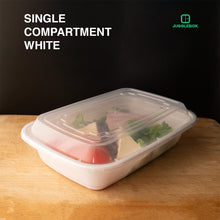 10x Single Compartment Meal Prep Food Storage Containers White - Jugglebox