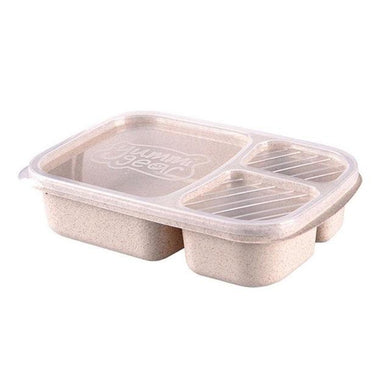 3 Grid Straw Microwavable Meal Prep Box