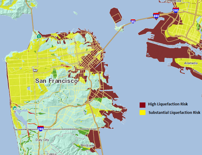 Do You Live On One Of Sf S Liquefaction Zones The Earthquake Bag