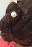 Hair Spiral Spin Pin Genuine Freshwater Pearl
