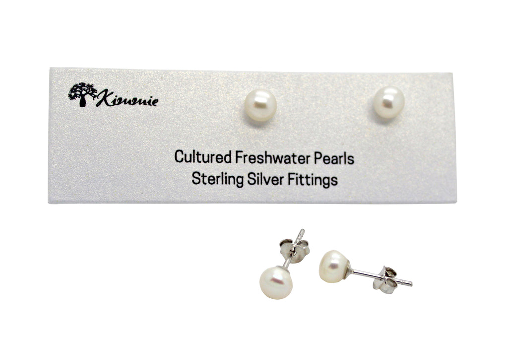 Freshwater Pearl Studs 5mm