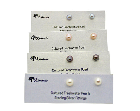 Freshwater Pearl Studs 5mm-6mm