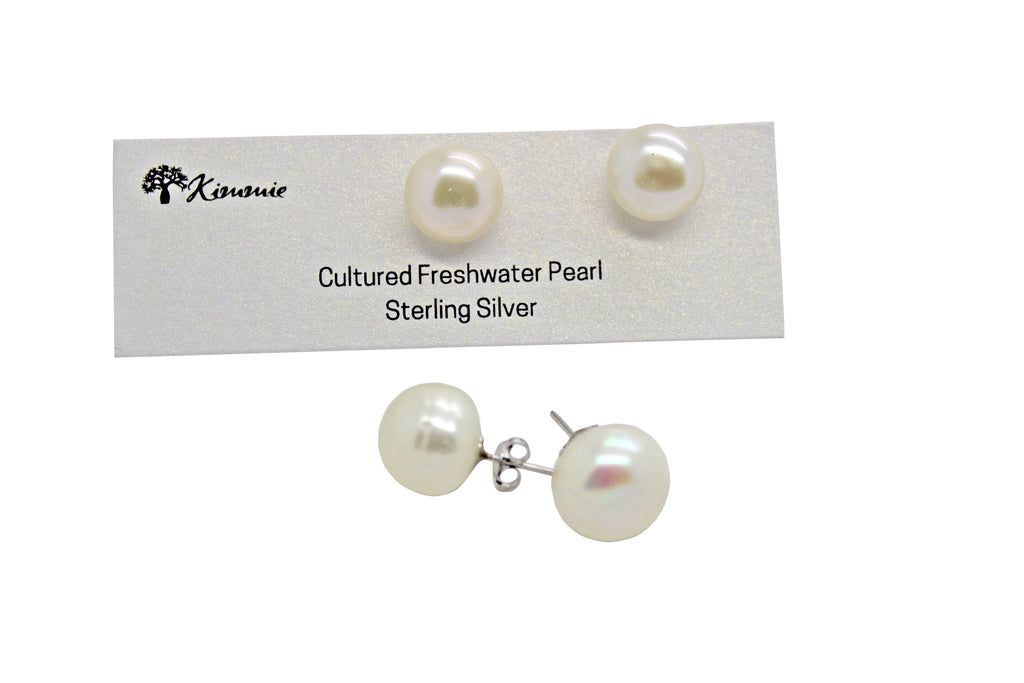 Freshwater Pearl Studs 11mm-12mm