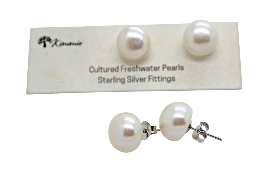 Freshwater Pearl Studs 12mm-13mm