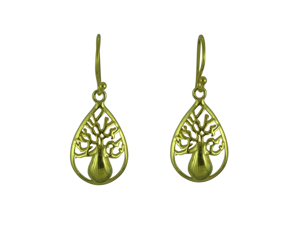 Teardrop Boab Earrings Gold