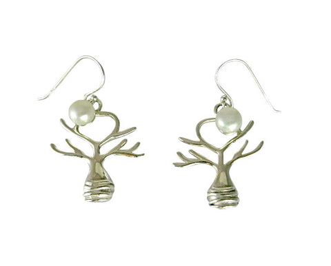 Boab Tree Pearl Moon Rising Earrings