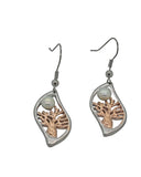 Boab Nut Pearl Earrings Stainless Steel