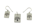 Boab Tree Etched Silver Tag Pendant