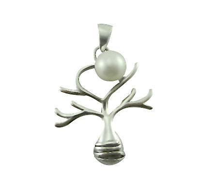 Boab Tree Pearl Moon Rising Pendant