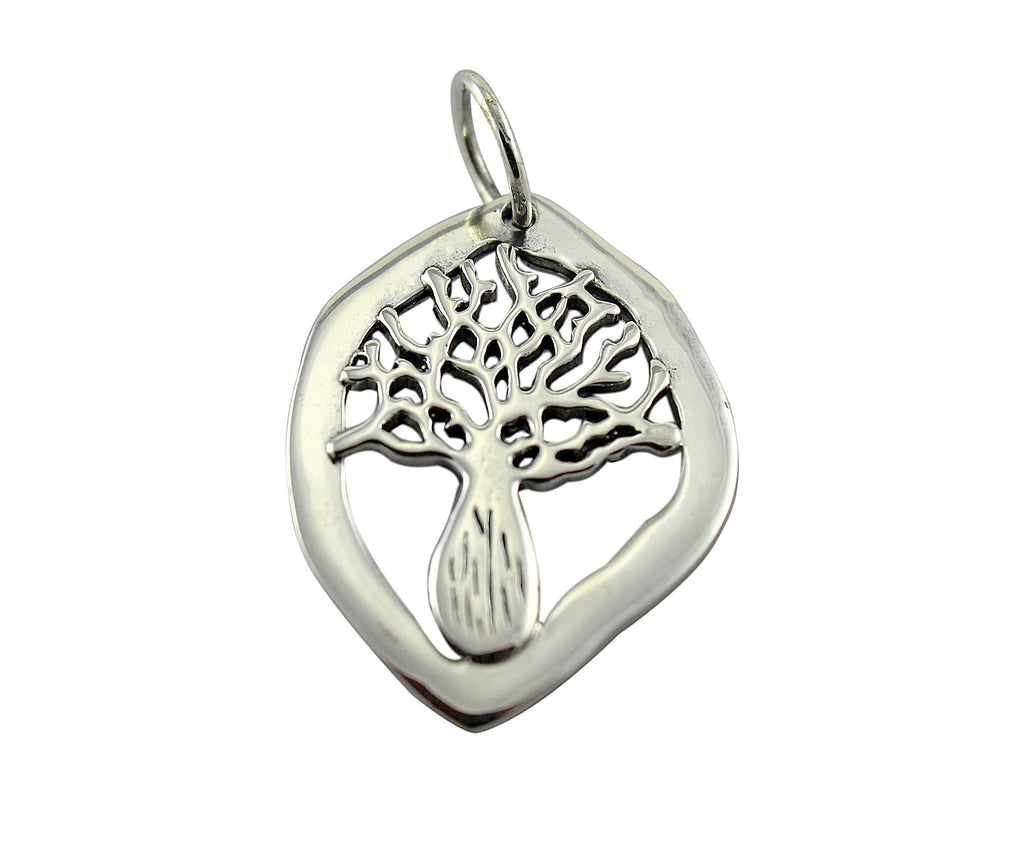 Boab Nut Tree Silver Pendant
