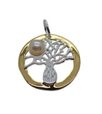Boab Tree Pearl 2 tone Gold / Silver Earrings