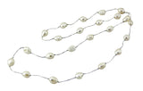 Baroque Pearl Necklace Strand on Silk Thread