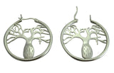 Boab Hoop Earrings Sterling Silver