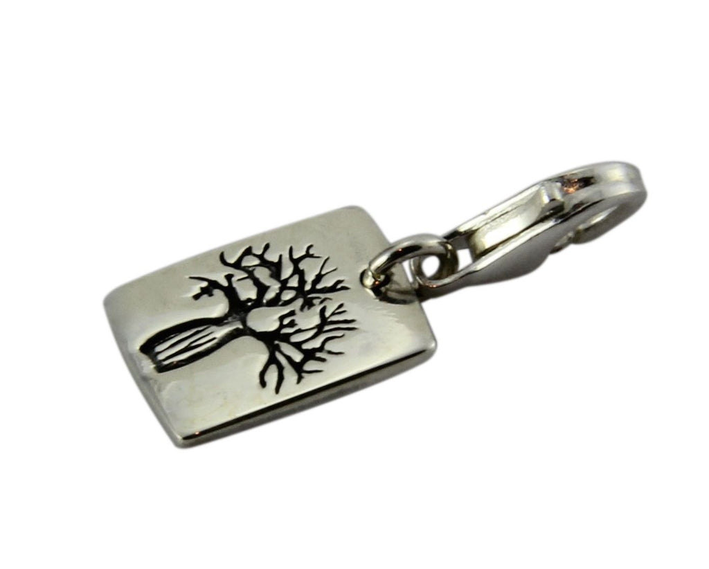 Boab Etched Tag clip on Charm