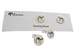 Camel Studs or Earrings Etched