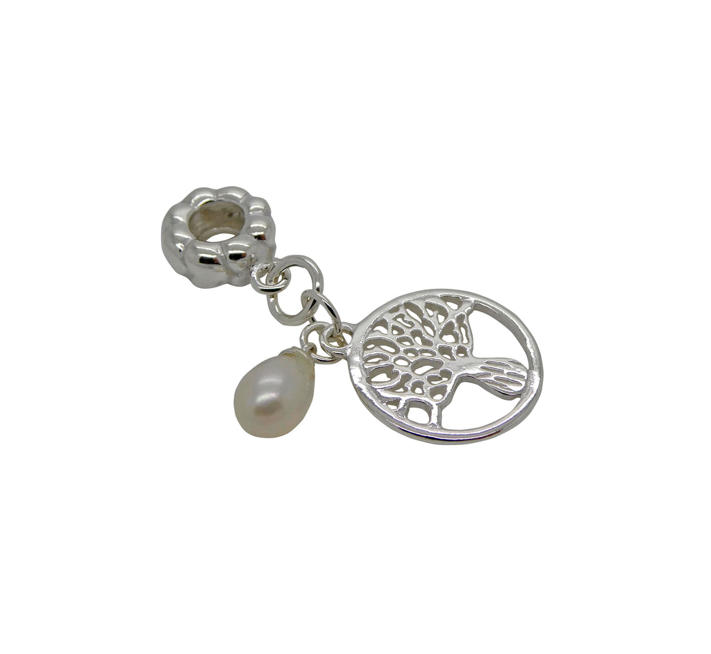 Boab Charm Hanging Pearl