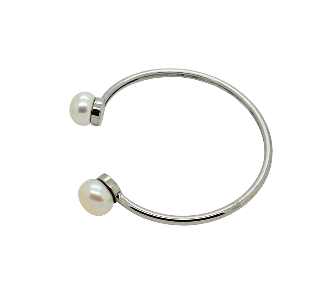 Bangle Cuff style, Freshwater Pearls