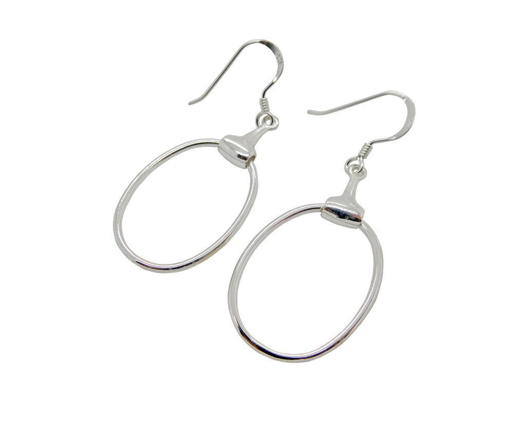 Hoop Oval Horse Bit Earrings