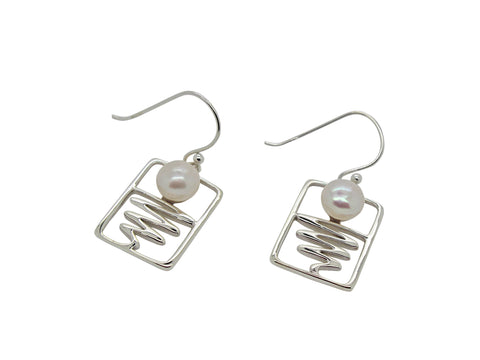 Staircase to the Moon Earrings Rectangle