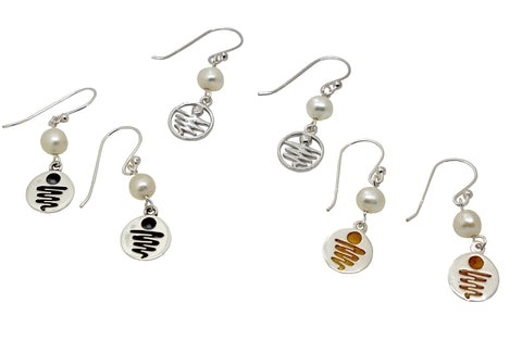 Staircase to the Moon Pearl Dangle Earrings
