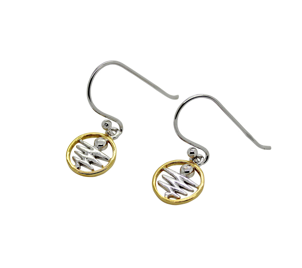 Staircase to the Moon Earrings Gold Edging