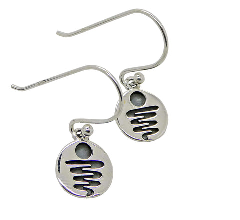 Staircase to the Moon Earrings Etched