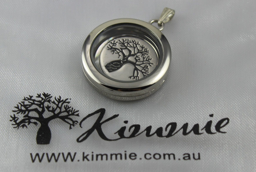 Floating Locket with Boab Charm Insert