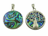 Reversible Boab Tree Natural Stone Pendant - Large