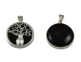 Reversible Boab Tree Pendant - Onyx Black