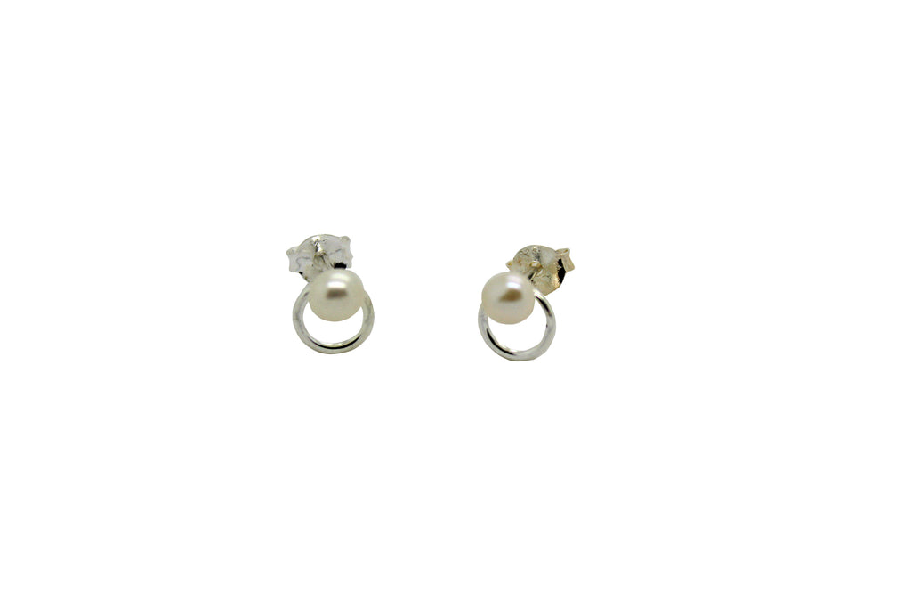 Circle Pearl Studs Children