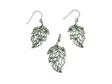 Leaf Earrings Silver / Freshwater Pearls