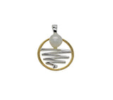 Staircase to the Moon Pendant Round Gold Edge