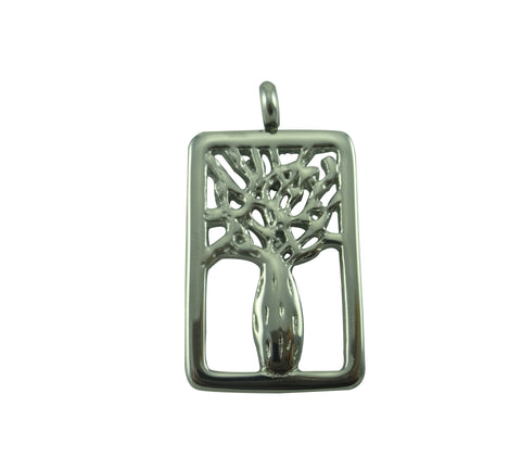 Boab Rectangle Steel  Pendant