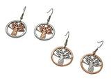 Boab Tree Earrings- Round Steel / Rose Gold