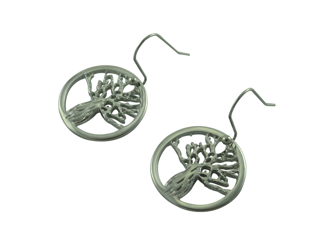 Boab Tree Earrings- Round Steel