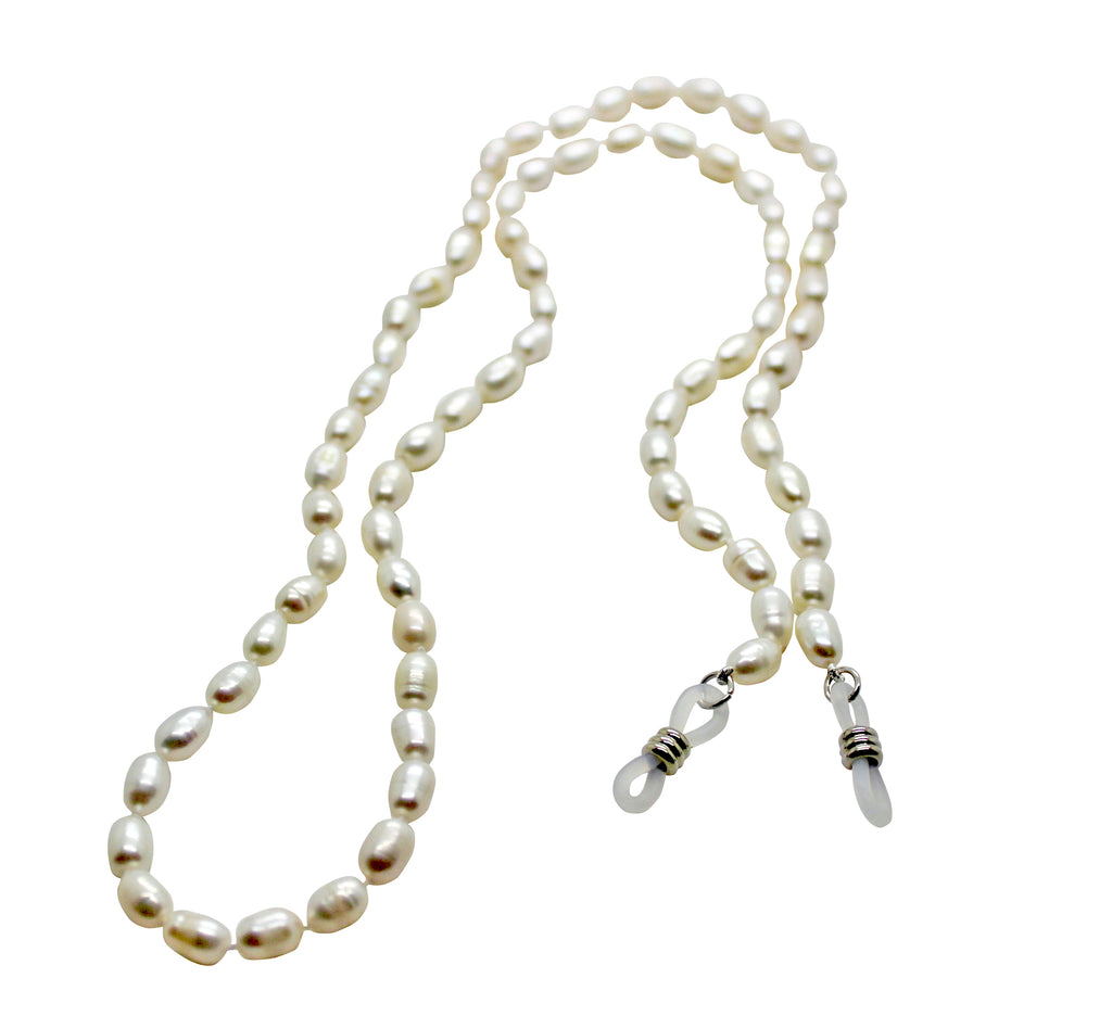 Glass Chain Holder Pearl