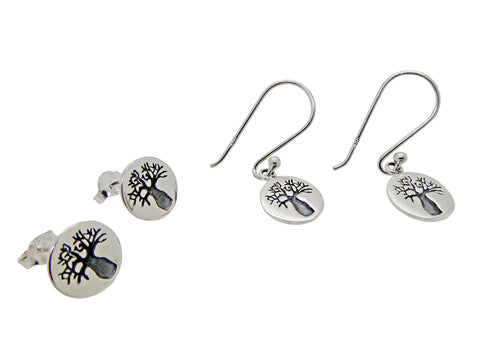 Boab Tree Earrings or Studs Small Etched