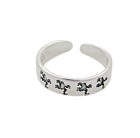 Frog Toe Ring Silver
