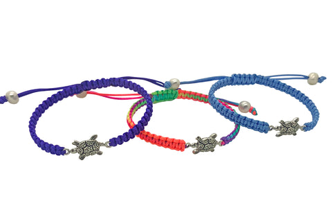Childrens Macrame Turtle Bracelet