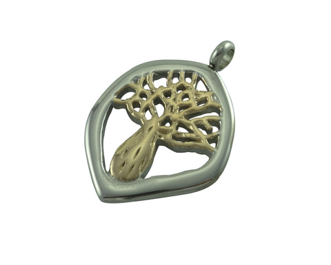 Boab Nut Pendant  - Two Tone Steel / Rose Gold