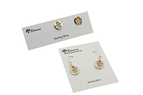 Staircase to the Moon Studs Gold Moon
